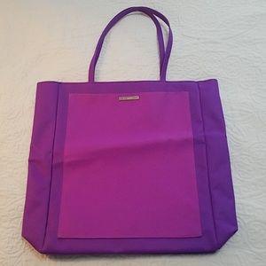 Clinique purple tote bag